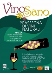 Supporting the Vino Sano event in Tuscany